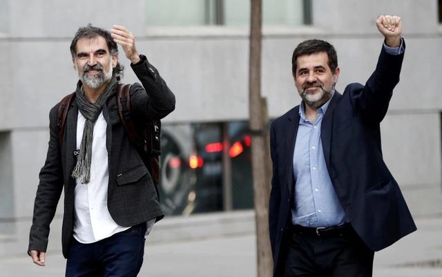 Ông Jordi Cuixart (trái) và ông Jordi Sanchez (Ảnh: Getty)
