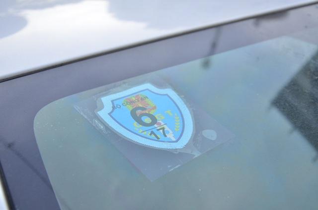 Chiếc xe có logo của Bộ Công an