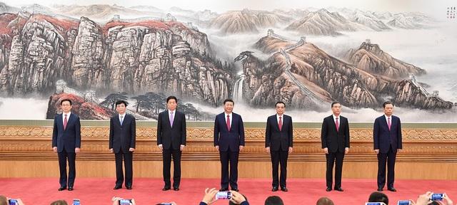 7 lãnh đạo cấp cao nhất của Đảng Cộng sản Trung Quốc khóa 19 (Ảnh: Tân Hoa xã)