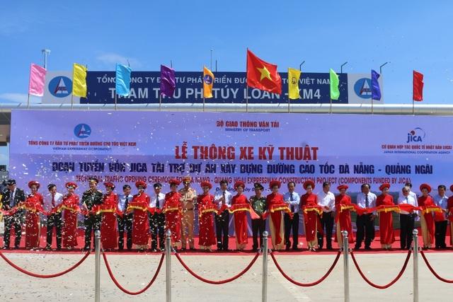 Lễ thông xe kỹ thuật đoạn tuyến 65km của dự án đường cao tốc Đà Nẵng - Quảng Ngãi