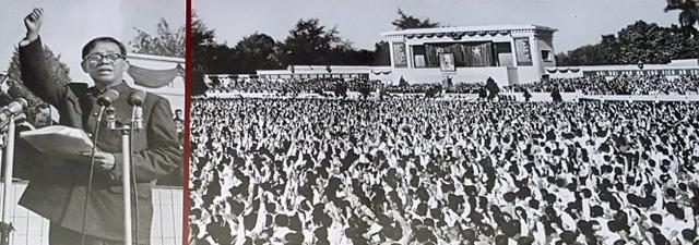 Sau ngày Chủ tịch Hồ Chí Minh mất, trên cương vị là người lãnh đạo cao nhất của Đảng, đồng chí đã cùng tập thể Bộ Chính trị lãnh đạo nhân dân ta xây dựng miền Bắc, dồn sức chi viện miền Nam, tiến hành cuộc kháng chiến thần thánh, giải phóng hoàn toàn miền Nam, thống nhất đất nước. Ảnh: ngày 9/9/1969, tại Lễ truy điệu Chủ tịch Hồ Chí Minh ở Quảng trường Ba Đình (Hà Nội), Bí thư thứ Nhất Lê Duẩn đã thay mặt Ban Chấp hành Trung ương Đảng đọc điếu văn và tuyên thệ trước anh linh Người, kêu gọi đồng bào, đồng chí nén đau thương, đạp bằng mọi trở lực, chông gai, quyết tâm đánh thắng hoàn toàn giặc Mỹ xâm lược, xây dựng thành công Chủ nghĩa Xã hội ở nước ta.