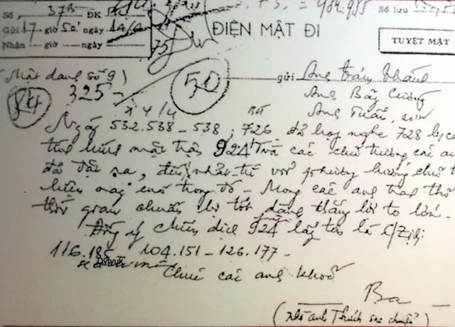 Bức điện số 37B ngày 14/4/1975 của Bí thư thứ Nhất Lê Duẩn báo tin Bộ Chính trị đồng ý lấy tên chiến dịch giải phóng Sài Gòn là chiến dịch Hồ Chí Minh.