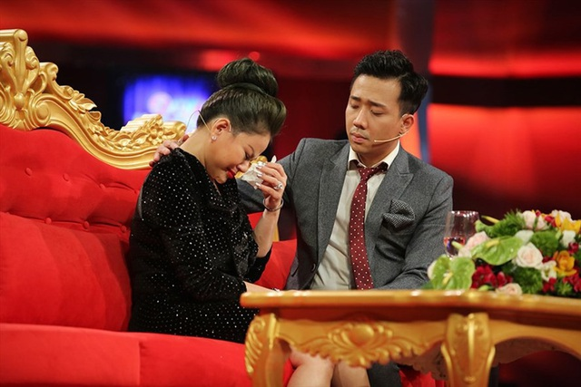 Nghệ sĩ Lê Giang trong chương trình Sau ánh hào quang. Ảnh: HTV