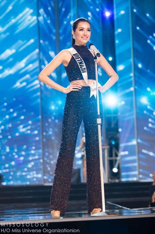 Lệ Hằng tự tin thể hiện mình tại Miss Universe.
