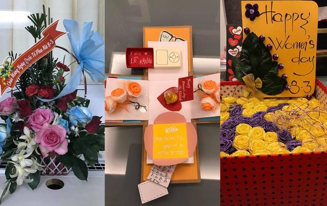 """Diễn viên Lê Khánh khoe niềm vui hạnh phúc với món quà đặc biệt mà các fan dành cho mình. Cô viết: """"Niềm vui của ngày 8/3 bên cạnh các tình yêu thật dễ thương. Chị cám ơn các em nhiều lắm nhé! Chúc cả nhà luôn vui và nhiều sức khoẻ!"""""""