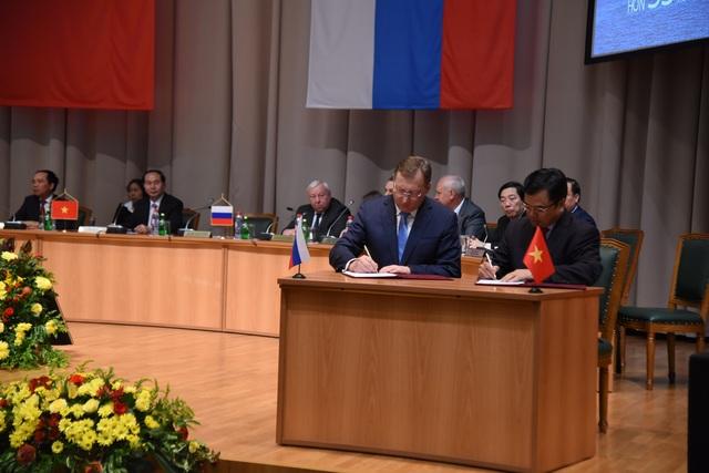 Lễ ký MOU giữa PVEC với Tập đoàn Zarubezhneft