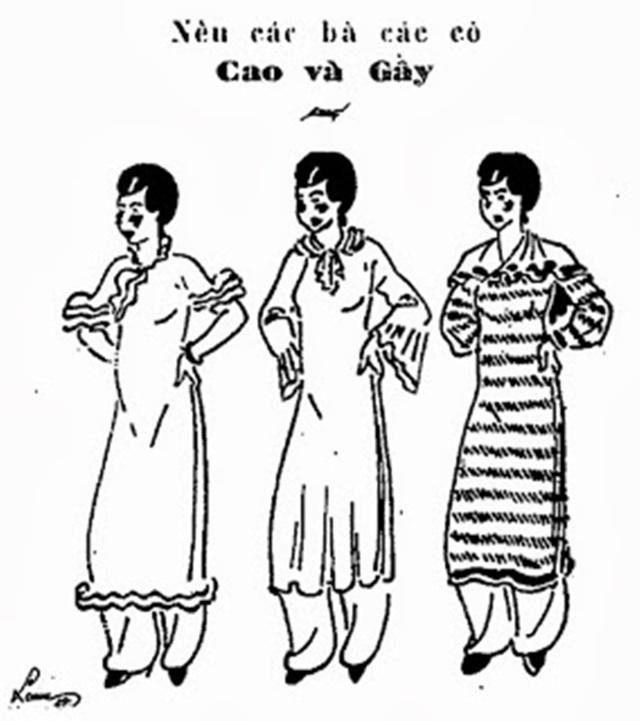 Những mẫu thiết kế áo dài của họa sĩ Cát Tường.