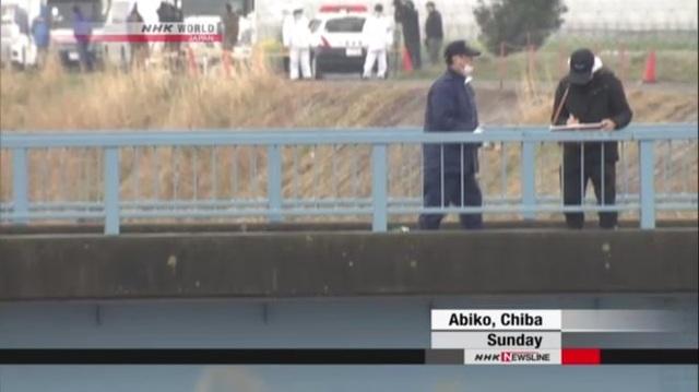 Cây cầu bắc qua con mương nơi tìm thấy thi thể bé Lê Thị Nhật Linh. (Ảnh: NHK)