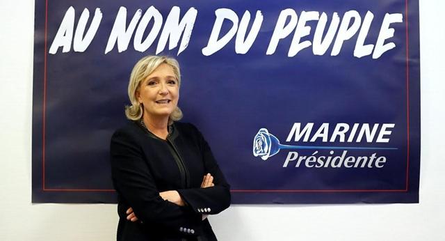 Ứng cử viên tổng thống đảng Mặt trận Quốc gia Pháp Marine Le Pen (Ảnh: Reuters)