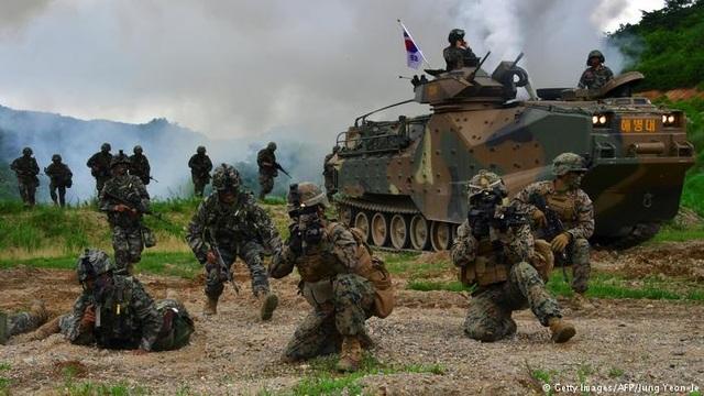 Binh sĩ Mỹ và Hàn Quốc trong cuộc tập trận Người bảo vệ Tự do Ulchi (Ảnh: AFP/Getty)