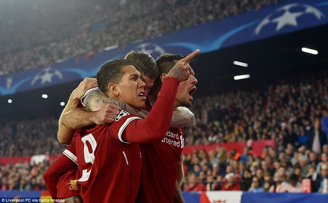 Liverpool dẫn trước Sevilla tới 3-0...