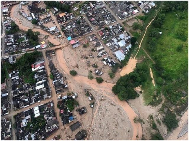 Hình ảnh cao không sau trận lở đất tại Putumayo, Colombia (nguồn: National Geographic)