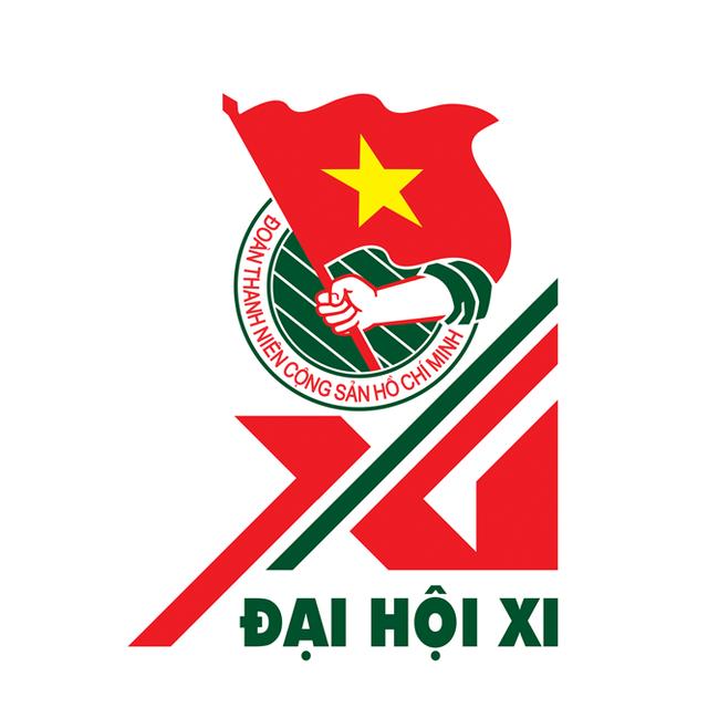 Biểu trưng (logo) Đại hội Đoàn toàn quốc lần thứ XI được xây dựng với hình tượng số La Mã XI cách điệu.