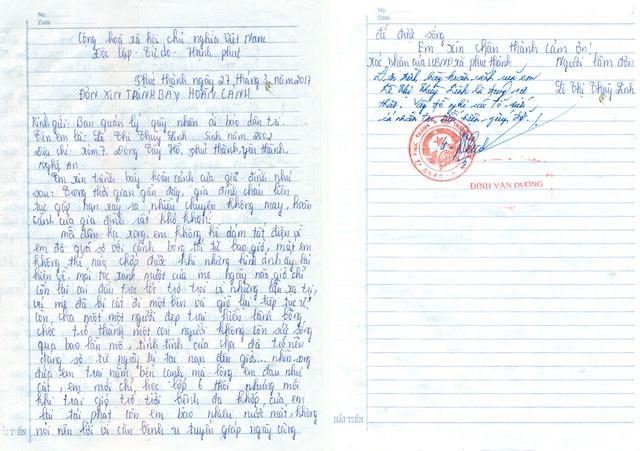 Xác nhận của UBND xã Phúc Thành về hoàn cảnh của gia đình anh Lê Đình Trọng