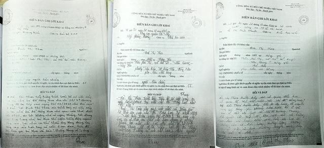 Lời khai của nhân chứng với cơ quan công an về việc bà Lụa bị chồng cũ dùng dao khống chế ép buộc viết giấy nhận nợ 2,5 tỷ đồng.