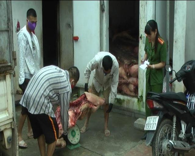 Bắt giữ 5 tấn lợn chết tím tái, bốc mùi hôi thối - 1