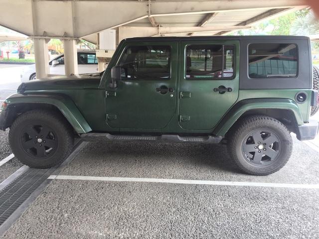 Chiếc xe ô tô hiệu Jeep được công an thu hồi