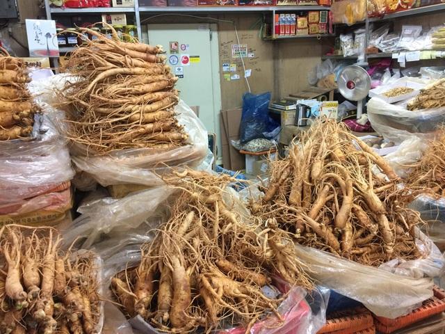 Sâm bên Hàn Quốc bán quanh năm chứ không hiếm như lời người bán đồn