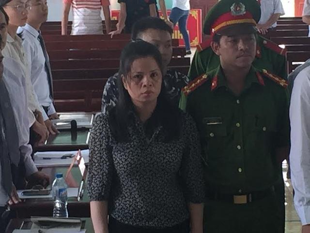 Bị cáo Lương Thị Thảo bị tăng án từ chung thân lên tử hình (ảnh chụp bị cáo tại phiên xét xử sơ thẩm)