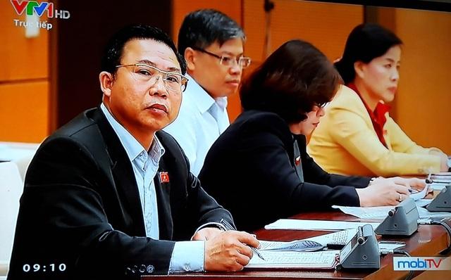 Đại biểu Lưu Bình Nhưỡng nêu câu hỏi với Bộ trưởng Đào Ngọc Dung