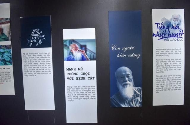 Đặc biệt, buổi lễ nhân ngày Nhà giáo Việt Nam của trường Lương Thế Vinh còn tổ chức một triển lãm về thầy Văn Như Cương.