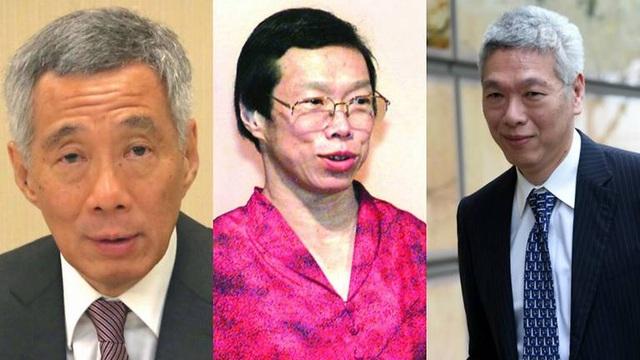 (Từ trái sang phải) Thủ tướng Lý Hiển Long, em gái Lý Vỹ Linh và em trai Lý Hiển Dương (Ảnh: CNA)