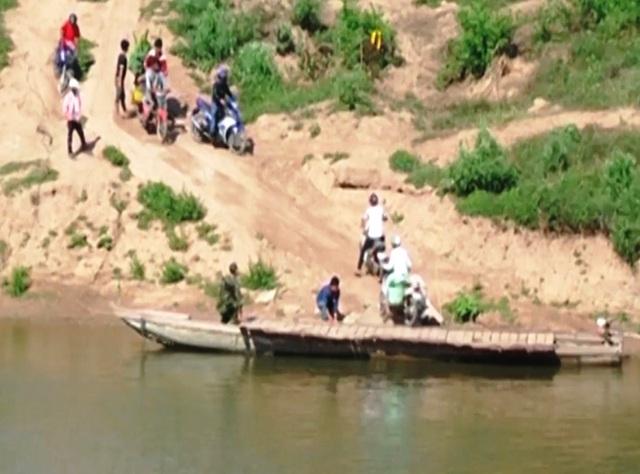 Sông Sê Pôn thuộc biên giới Việt - Lào, nơi các đối tượng qua lại vận chuyển ma túy