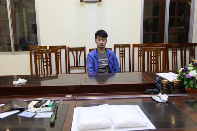 Đối tượng Thi Minh Tuấn bị bắt giữ cùng tang vật