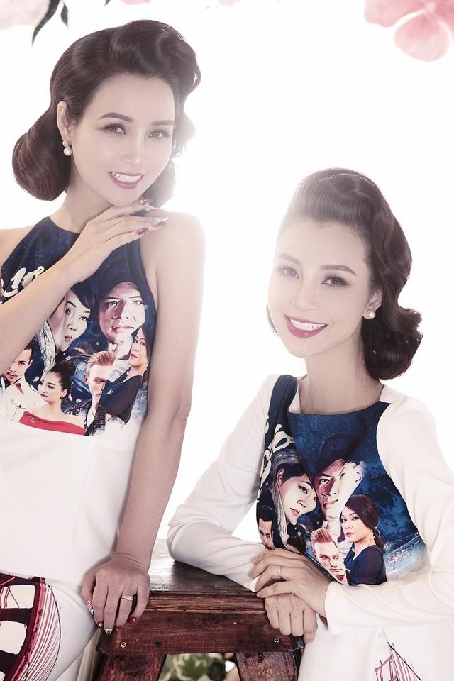 """Đặc biệt, hai người phụ nữ xinh đẹp này lại rất """"chuộng"""" những bộ đồ đôi khi có cơ hội xuất hiện cùng nhau nên càng khiến khán giả và đồng nghiệp nhầm lẫn là hai chị em song sinh."""