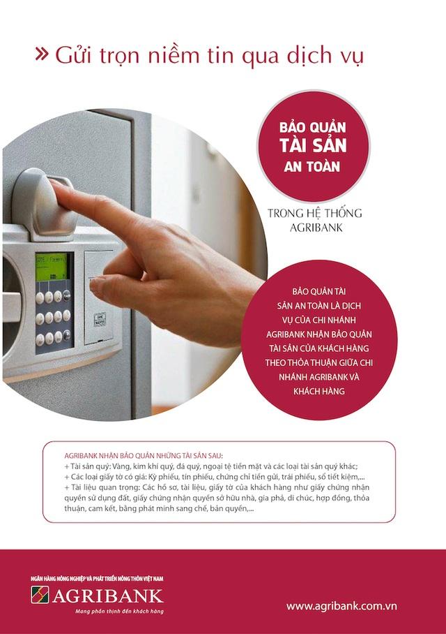 Gửi trọn niềm tin qua dịch vụ bảo quản tài sản an toàn trong hệ thống Agribank - 1