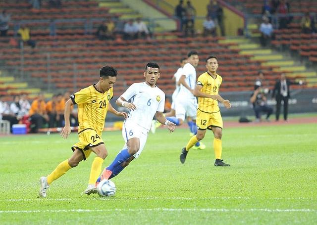 U22 Malaysia thi đấu nhạt nhòa trước U22 Brunei