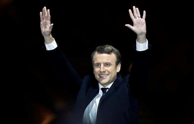 Tổng thống đắc cử Pháp Emmanuel Macron (Ảnh: Reuters)
