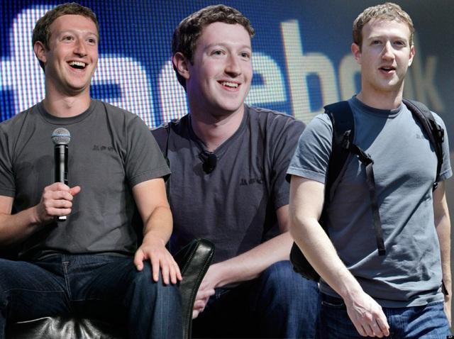 Mark Zuckerberg nói anh có khoảng 20 chiếc áo phông màu xám trong tủ quần áo của mình. (Nguồn: Huffington Post UK)