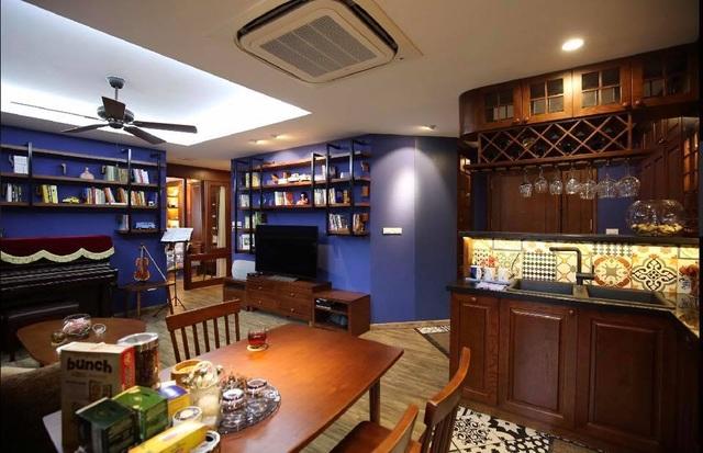 Màu sắc chủ đạo trong căn nhà mà Thuỳ Dương chọn là xanh cô ban.