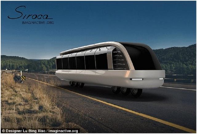 The Siroco được lấy cảm hứng từ ý tưởng một chiếc xe máy có thể chở nhiều hơn hai hành khách.