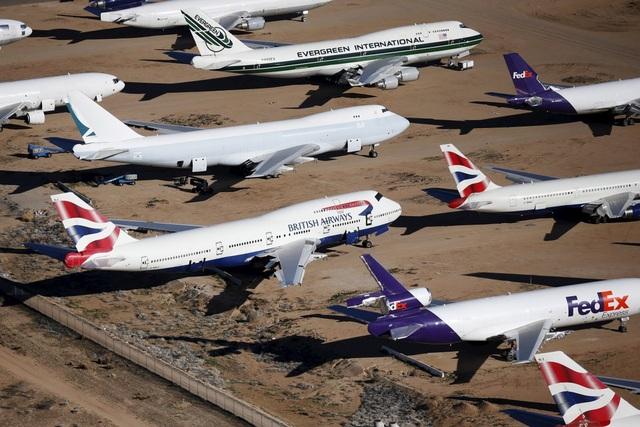 Hãng hàng không của Anh British Airways đưa khá nhiều máy bay đã cũ tới đây