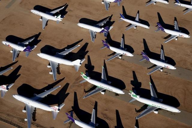 Các nghĩa địa máy bay của Mỹ thường tập trung tại vùng sa mạc, nơi có khí hậu khô nóng ít mưa