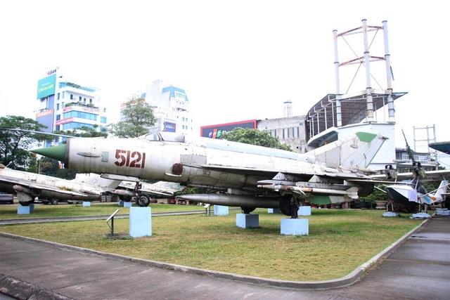 Máy bay tiêm kích MIG-21 do Phạm Tuân điều khiển bắn rơi B52 vào đêm 27/12/1972. (Ảnh: Nguyễn Dương).