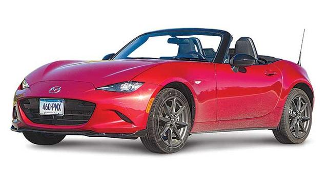 Xe thể thao: Mazda MX-5 Miata - Theo Consumer Reports, mẫu xe thể thao này cho cảm giác lái rất thú vị, với trang bị đặc trưng là động cơ đặt trước, hệ dẫn động cầu sau, trọng lượng nhẹ và vận hành dứt khoát.