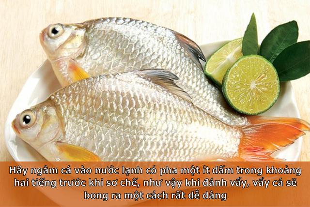 Bí kíp đánh vẩy cá cho các bà nội trợ