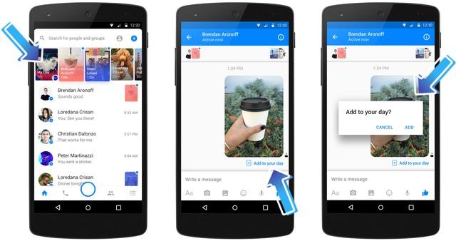 """Facebook tung tính năng """"chia sẻ ngày"""" trên tin nhắn Messenger - 2"""