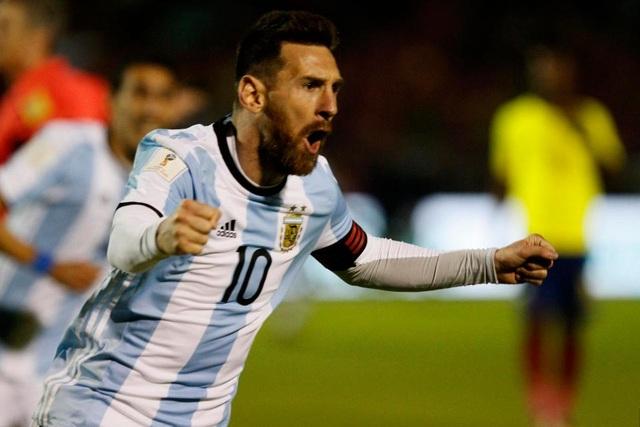 Messi giúp Argentina giành vé dự World Cup 2018