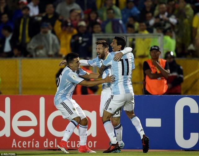 Bàn thắng của Messi đã giúp Argentina giải tỏa được áp lực