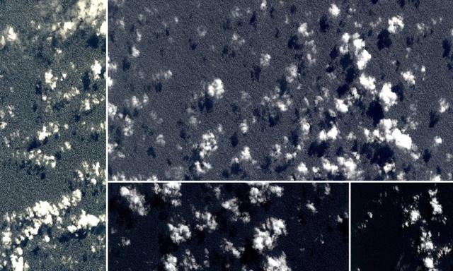 Ảnh vệ tinh chụp ở vùng biển khoảng 2 tuần sau khi MH370 mất tích (Ảnh: Geoscience Australia)