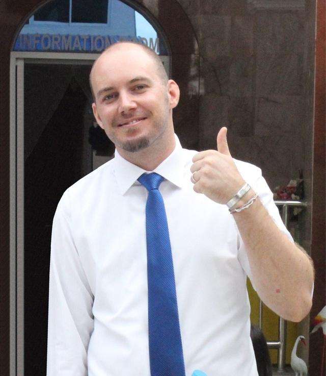 Mike Witteveen - Đại diện cộng đồng sinh viên quốc tế - Đại học Greenwich Việt Nam.