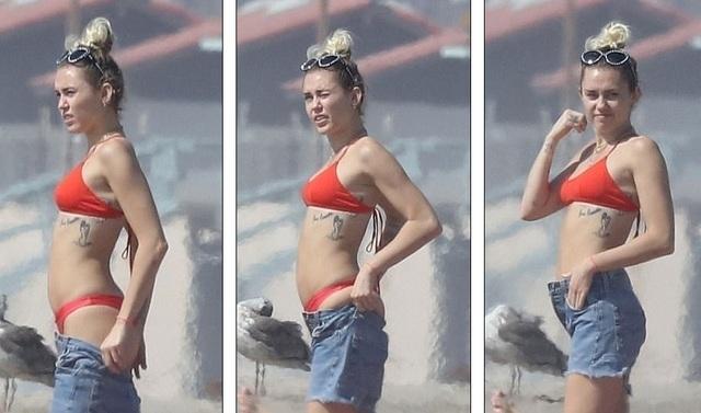 Thân hình nóng bỏng và gợi cảm của nữ ca sĩ 24 tuổi nhờ tập luyện yoga thường xuyên. Miley cũng là người ăn chay.