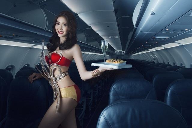Cô gái thứ 3 xuất hiện trong bộ hình là Á hậu chuyển giới xinh đẹp của Thái Lan (Miss Tiffanys Universe 2017) Kwan Lada. Kwan Lada, 19 tuổi, đến từ Nakhon Pathom (Thái Lan). Cô sở hữu vẻ xinh đẹp, đài các, nụ cười duyên. Kwan Lada cho biết, rất hào hứng, hạnh phúc cho lần xuất hiện cùng Minh Tú và Celine Farach.