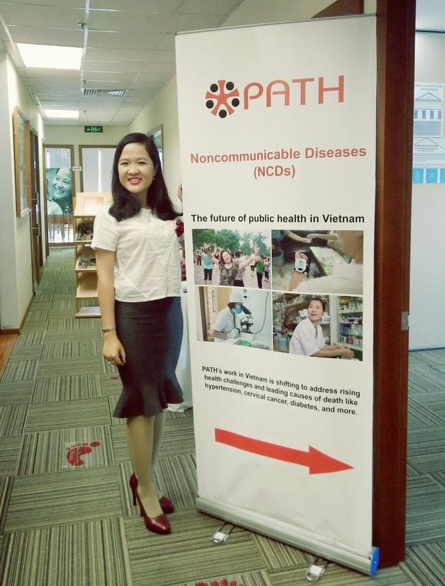 Minh Châu tại lễ kỷ niệm 35 năm PATH có mặt tại Việt Nam