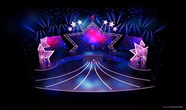 Sân khấu đêm chung kết được đầu tư kỹ lưỡng bởi ánh sáng và hiệu ứng