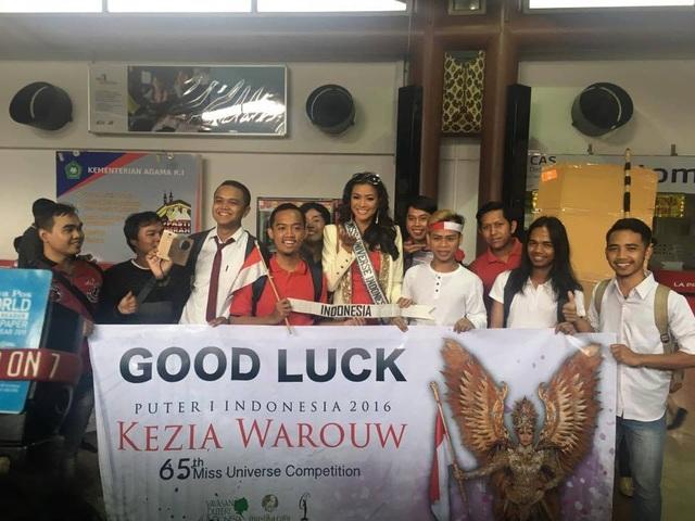 Fan chúc Hoa hậu Indonesia - Kezia Warouw tham dự cuộc thi Hoa hậu hoàn vũ 2016 gặp nhiều may mắn.